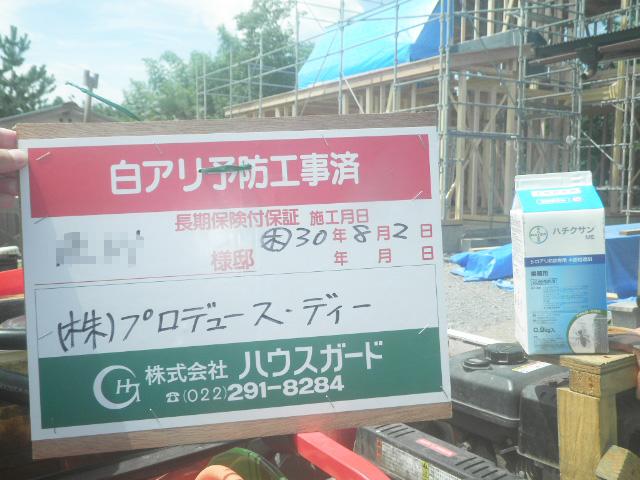 シロアリ防止工事01